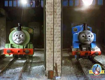 A story of train Thomas Percy and the dragon fire both tank engines are good steam railway friends