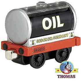 Wooden toy railway diecast engine Thomas train Take Along truck Sodor trains playset oil car tanker