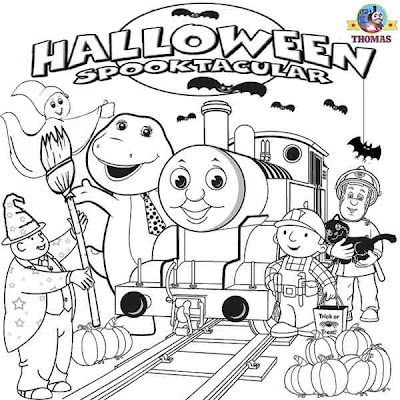 Thomas Halloween Coloring Pages