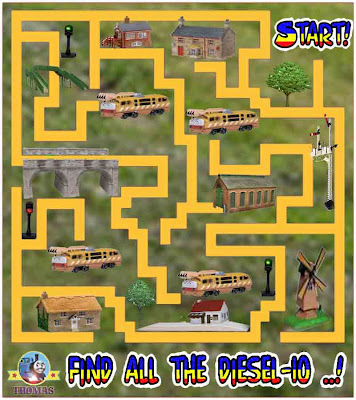 Thomas and friends diesel 10 train easy maze game puzzle for kids active learning online worksheets