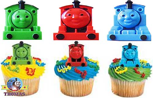 Kids Birthday Party Thomas Cake Toppers.