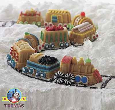 Railway themed Percy and Train Thomas tank cake pan baking muffin tins for boys birthday parties