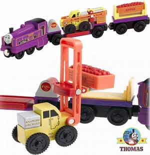 Thomas The Tank Engine Culdee Wooden Railway System Culdee and the Apple Orchard Cars set cargo load