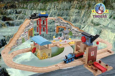 kids traditional fun active learning toy Thomas and his Friends wooden railway quarry adventures set