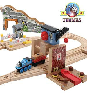 Toy childrens classic wooden train railway set quarry adventure Thomas the tank engine accessories