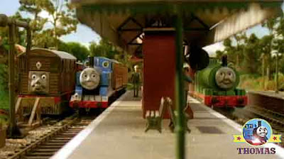 Thomas and the Special Letter delivery southern railway junction point Percy the train and Toby tram