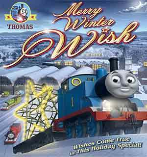 DVD Thomas and Friends Merry Winter Wish movies for kids at Christmas big screen CGI railway episode