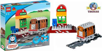 Childrens educational toy Duplo Lego Thomas the tank engine Toby the tram at Wellsworth Station sets