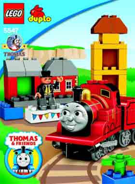 Duplo Lego Thomas the tank engine train set James the red engine Sir Topham Hatt celebrate Sodor Day