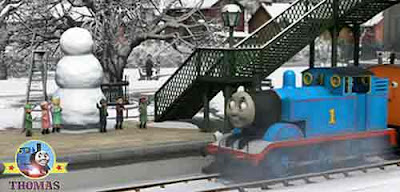 Cold snowy winter Thomas and the hat adventure small children frosty the iceman party decorations