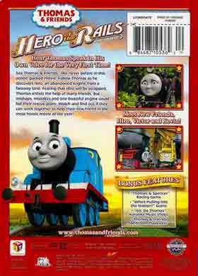 Colorful animation Thomas and Friends Hero of the Rails movie CGI DVD film for kids B sleeve cover