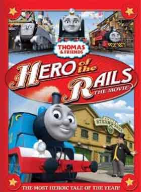 Colorful animation Thomas and Friends Hero of the Rails movie CGI DVD film for kids F sleeve cover