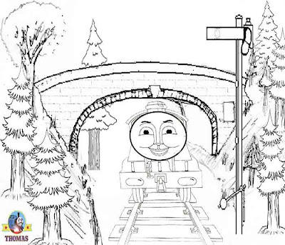 Thomas the Tank Engine and Friends Coloring Pages