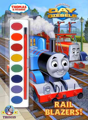 Thomas and friends Rail Blazers childrens painting book based on Thomas the train Day of the diesels