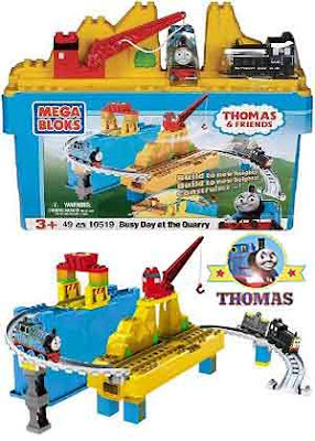 Toy Railway Thomas and friends Mega Bloks Busy Day at the Quarry train Mavis the diesel engine Set