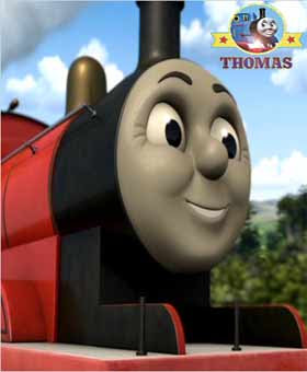 Thomas and friends Tickled Pink James the big express engine on the sunny railway Island of Sodor