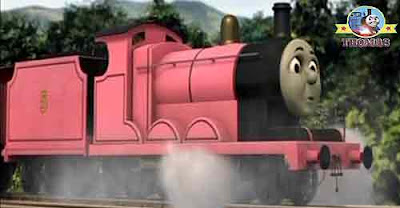 Thomas and his friends diesel 10 engine was shocked what are you doing train James the pink engine