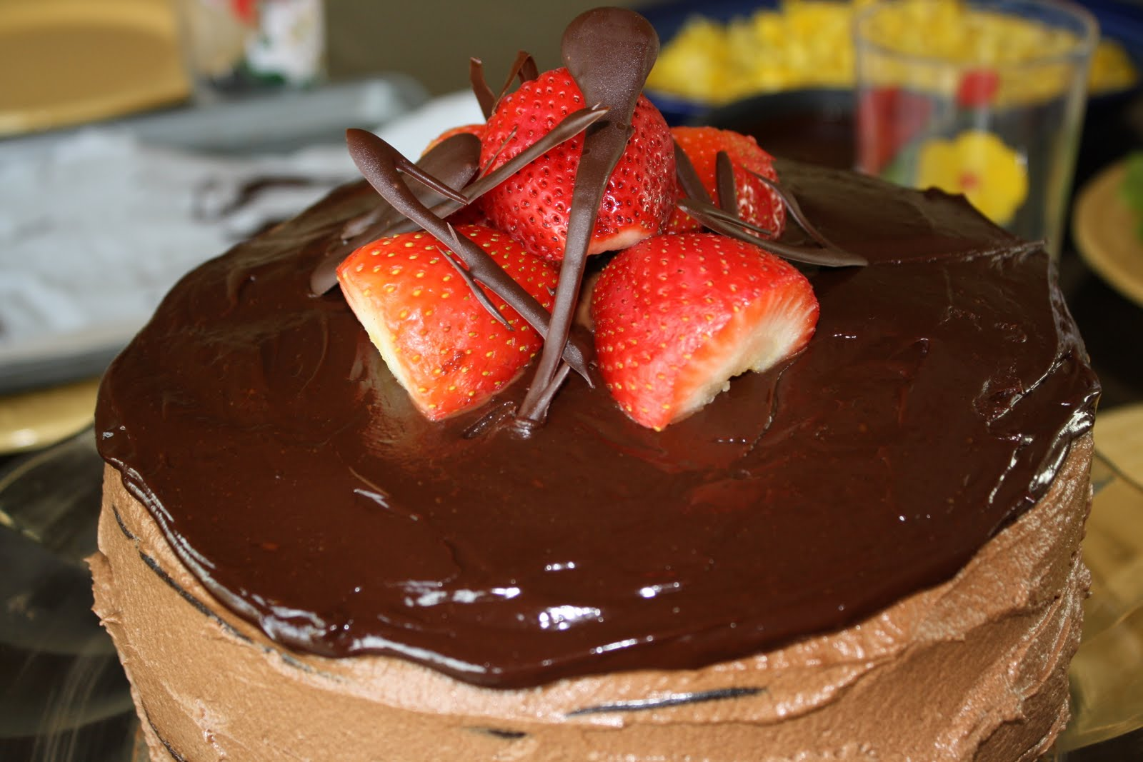 dubs cafe: Chocolate Strawberry Celebration Cake