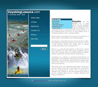 Kayaking Lessons Website