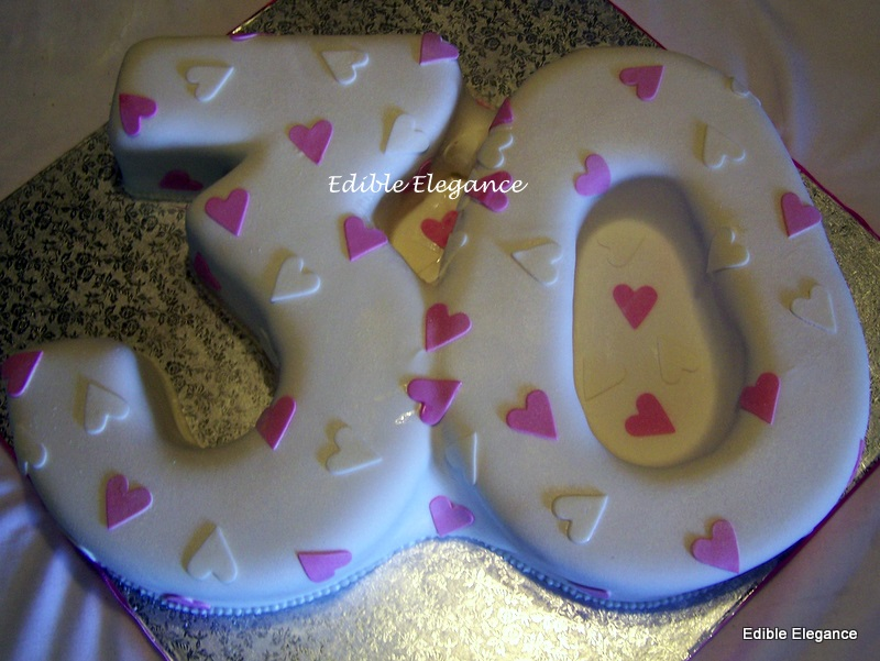 Edible Elegance 30th Birthday Cake
