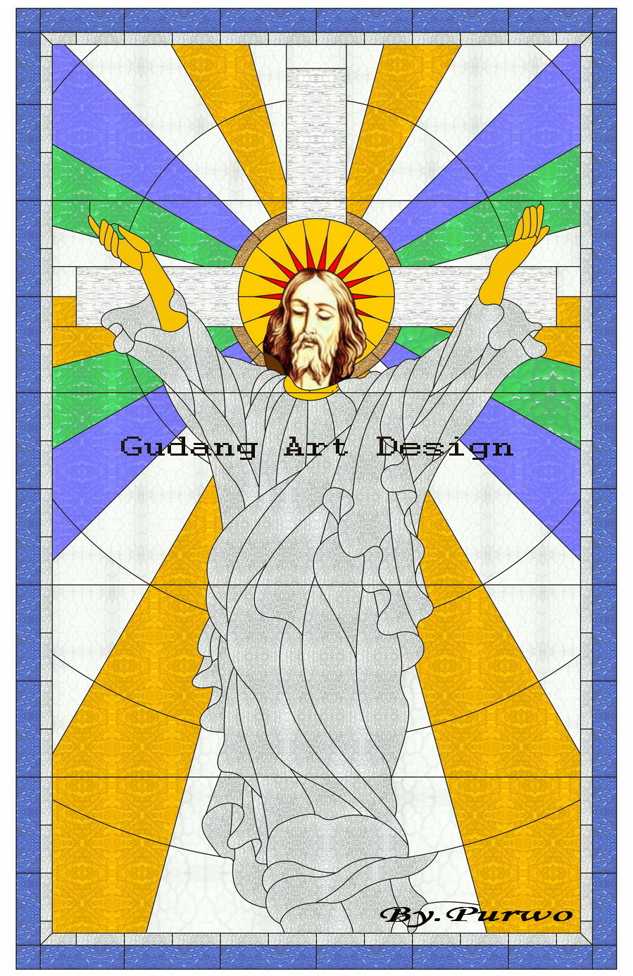"Desain Kaca Patri Gereja GPIB ""Stained Glass Church"""