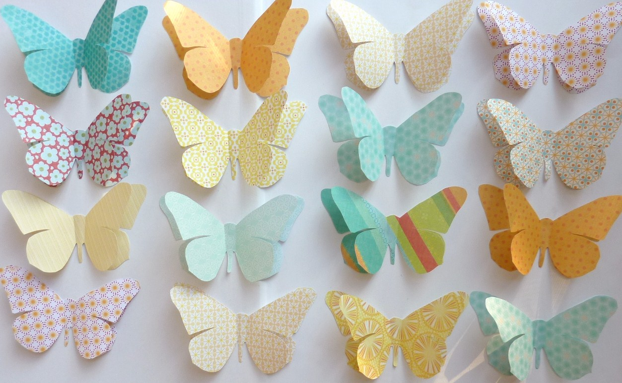 beach cottage studio large paper butterflies party