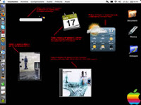 Screenshot del desktop del mio iBook G4