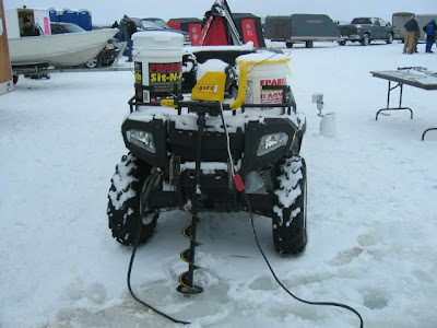 Wolf pack adventures sportfishing report for Atv ice fishing accessories