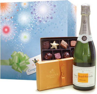 Veuve Clicquot Congratulations with Demi-Sec & Godiva Chocolates