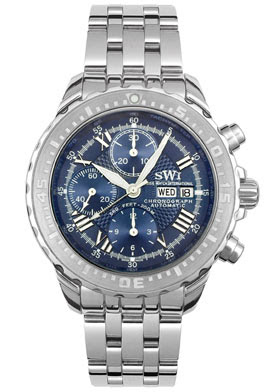 Swiss Watch International Automatic Chronograph Stainless Steel Watch