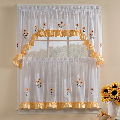 Sunnyside Floral Kitchen Curtains