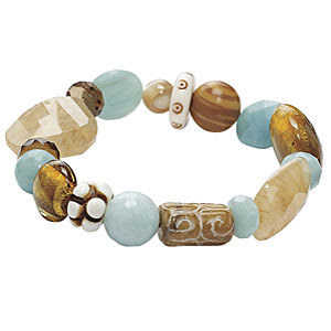 Amazonite Mix Stretch Bracelet