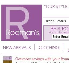 Roamans Coupons and Deals