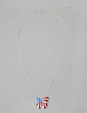 Americana Butterfly Necklace