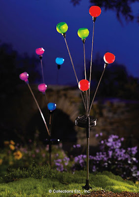 Solar Bubble Lights Lawn Stake