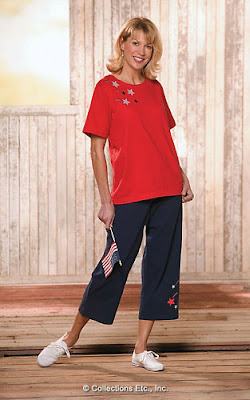 Patriotic Women Top and Pants