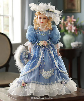 Blue Victorian Collectible Doll