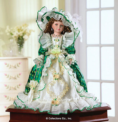 Kelly Green Irish Porcelain Doll
