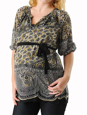 Elbow Sleeve Maternity Blouse