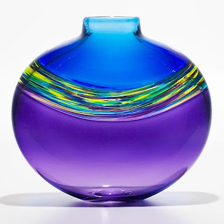 Transparent Vortex art glass Vase