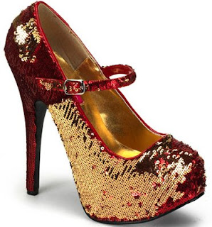 Red Glitter Pumps