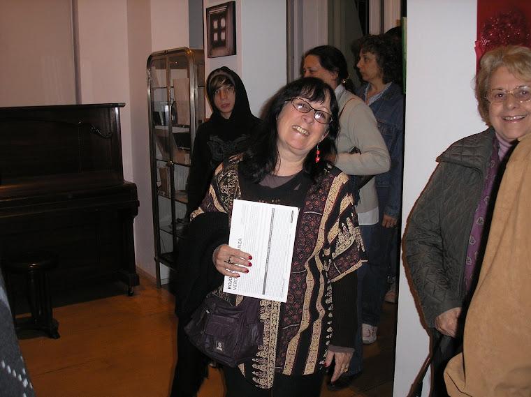 Marta Greiner expositora en su ingreso
