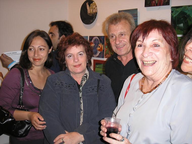 Arminda Ulloa (primer plano) Arnoldo gualino y Susana Echeveste