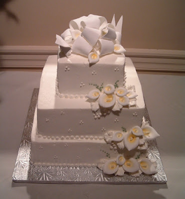 Unusual Square Wedding Cake Pictures Beautiful White Cake