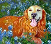 Pet Portraits Golden Retriever by Robin Zebley