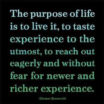 All life is an experience~
