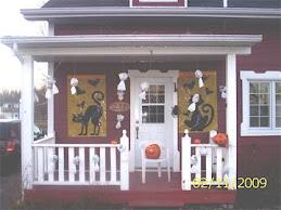Notre maison décorée pour l'Halloween