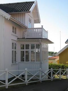Gammaldags inbyggd veranda