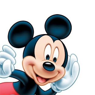 famous cartoon faces a smiley face of mickey mouse