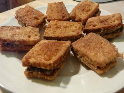 el pan quedó muy crujiente, como los picatostes, me hubiera gustado más tierno
